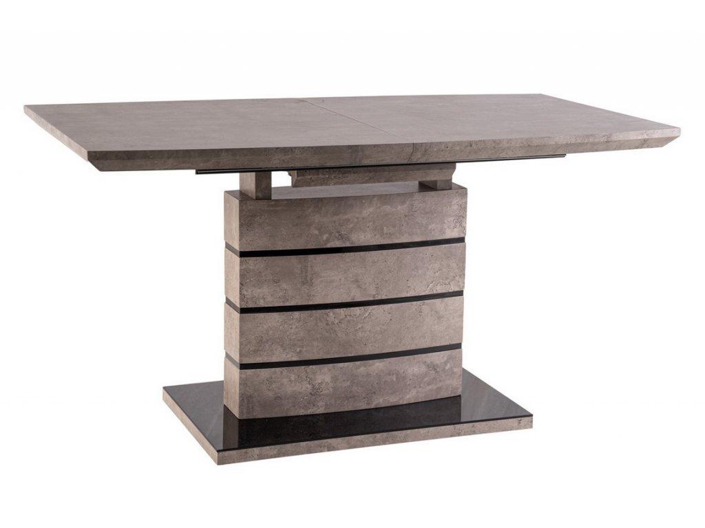 Jídelní stůl rozkládací LEONARDO 140x80 beton/černá