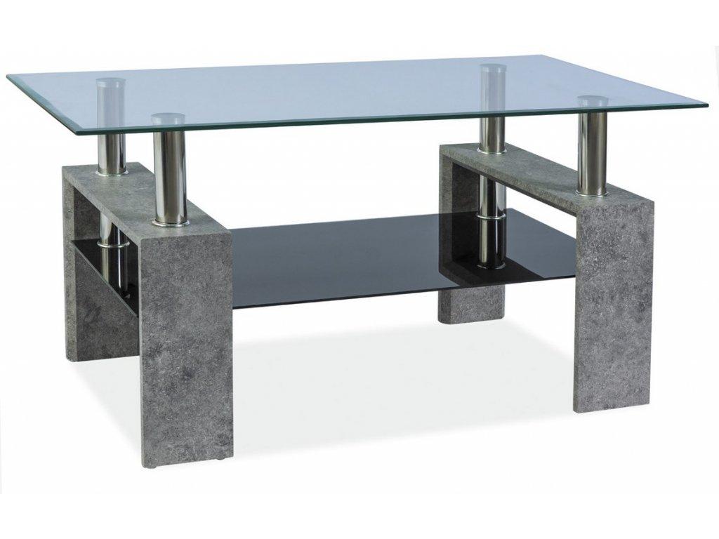 Konferenční stolek LISA III - šedý kámen