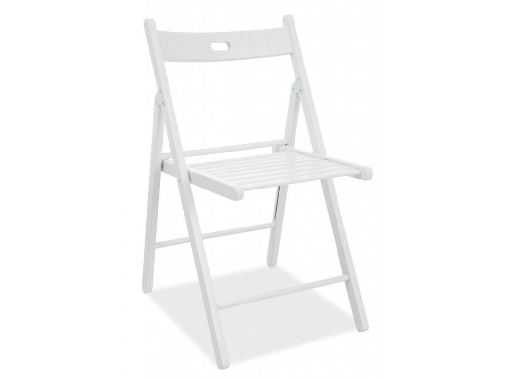 Dřevěná skládací židle SMART II bílá