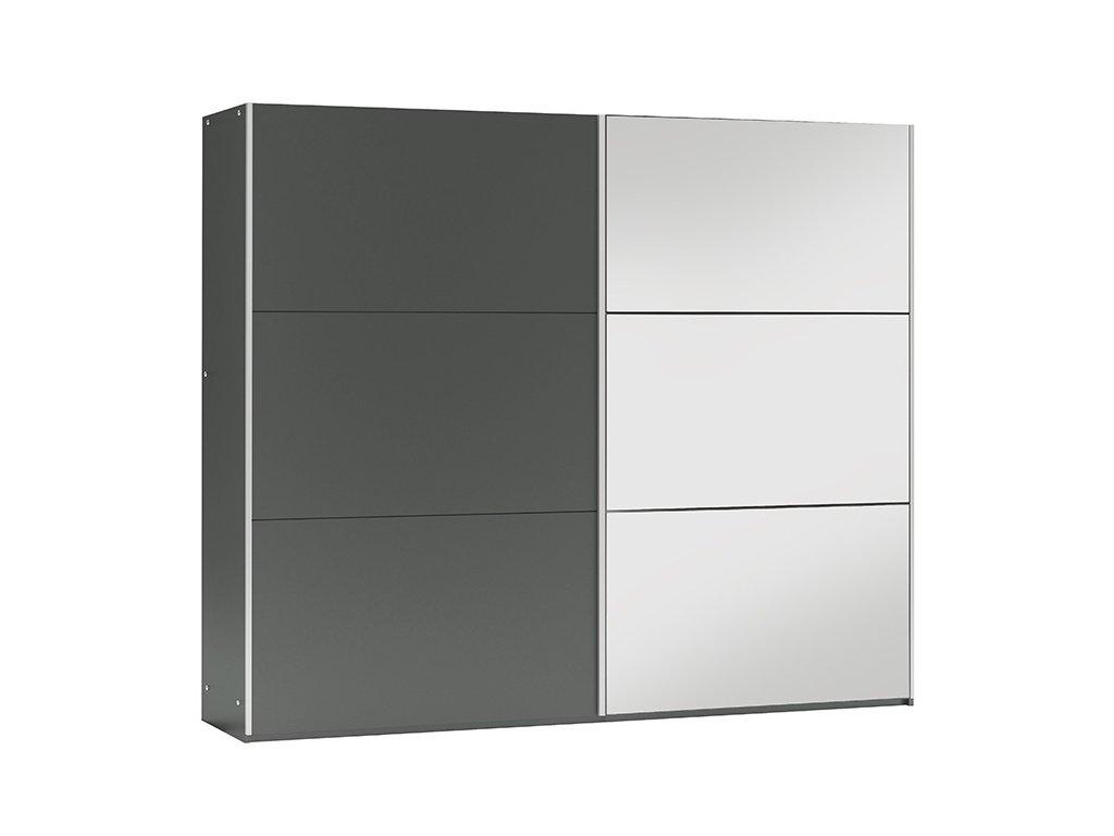 Šatní skříň VALERIANO 250 grafit/grafit