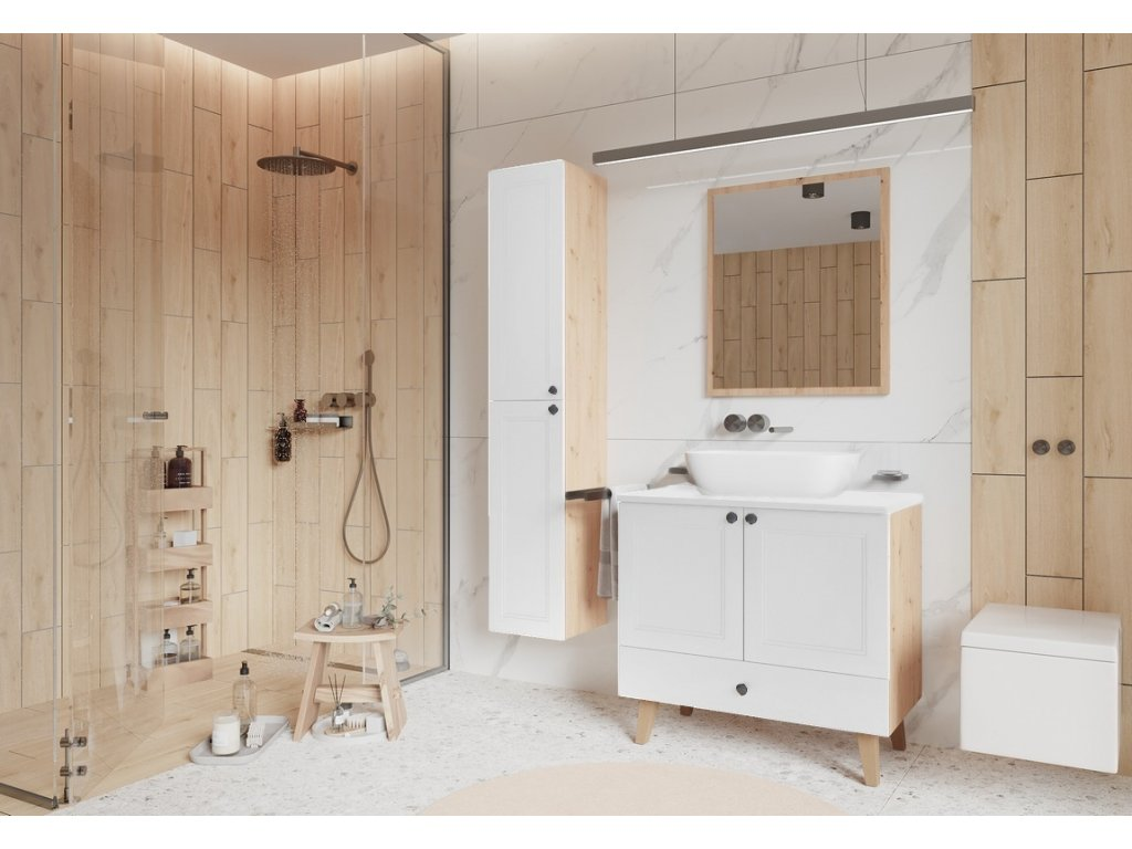 Koupelnová sestava POMEROY bílá mat