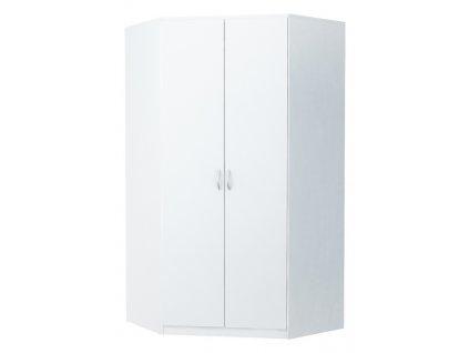 Rohová šatní skříň ALEX bílá