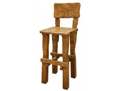 OM-099 zahradní židle vysoká brunat