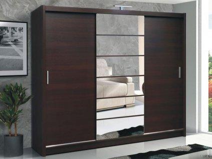 Šatní skříň MENDOZA 250 wenge