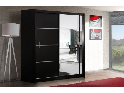 Šatní skříň SANDINO 203 černá