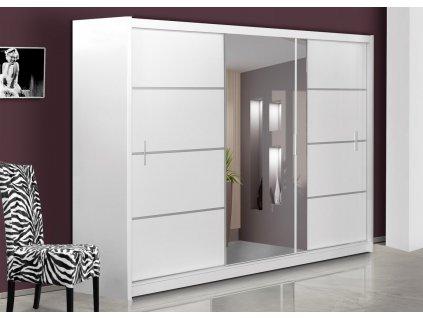 Šatní skříň SANDINO 250 bílá