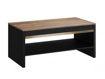 Konferenční stolek BAXTER 10 černá/dub versal