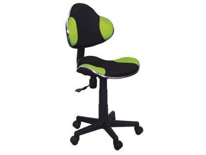 Kancelářská židle Q-G2 černá/zelená
