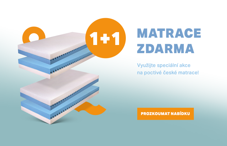 1+1 matrace zdarma