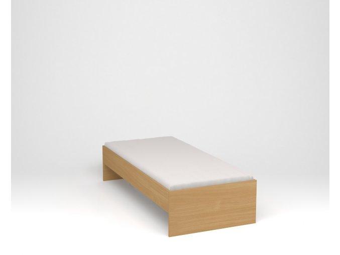 Dětská postel s nízkým čelem - buk