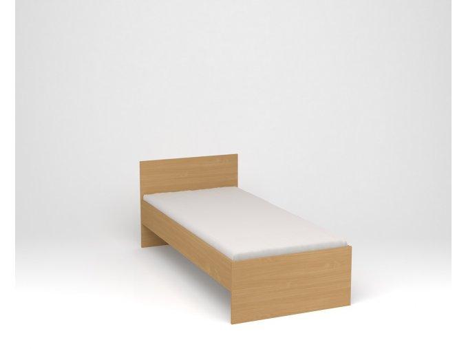 Dětská postel s vysokým čelem - buk