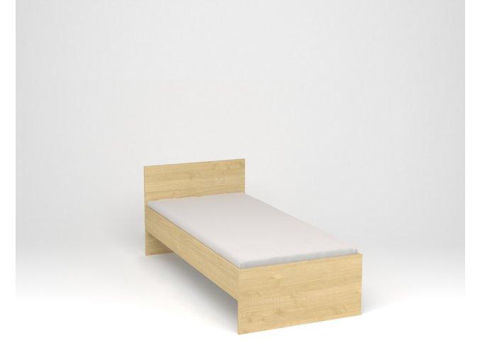 Dětská postel s vysokým čelem - javor
