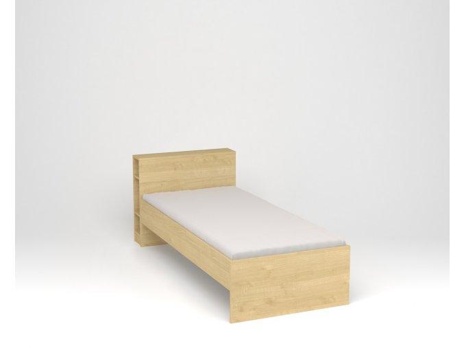 Dětská postel s policovým čelem - javor