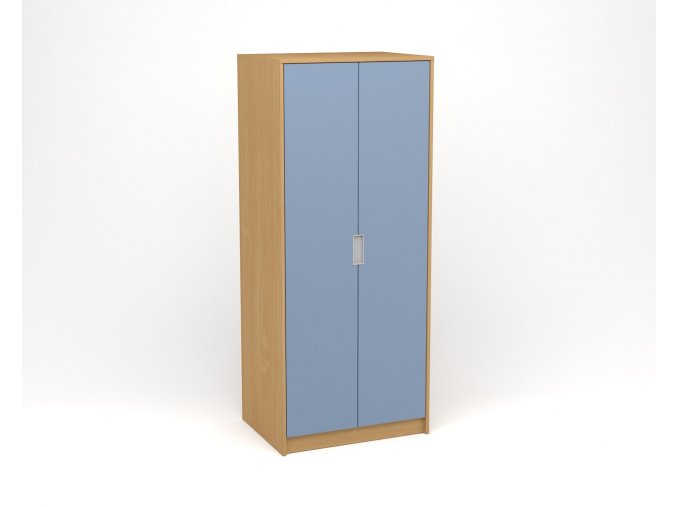 Šatní skříň buk modrá