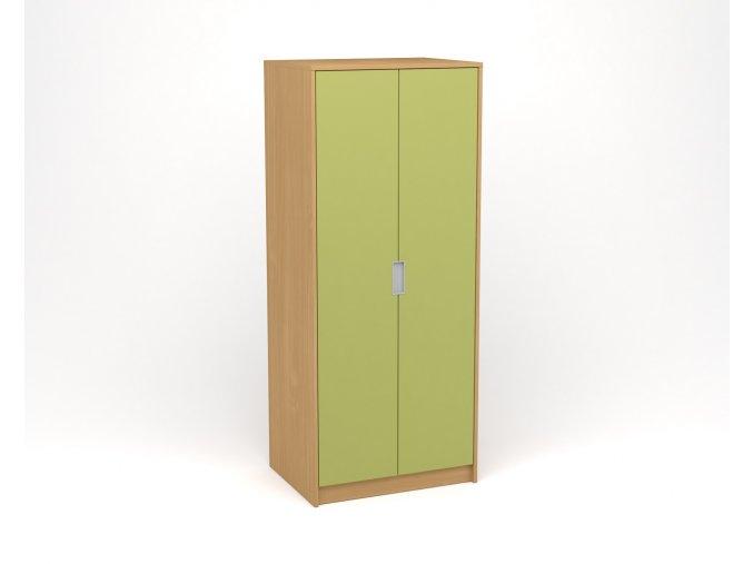 Šatní skříň buk zelená