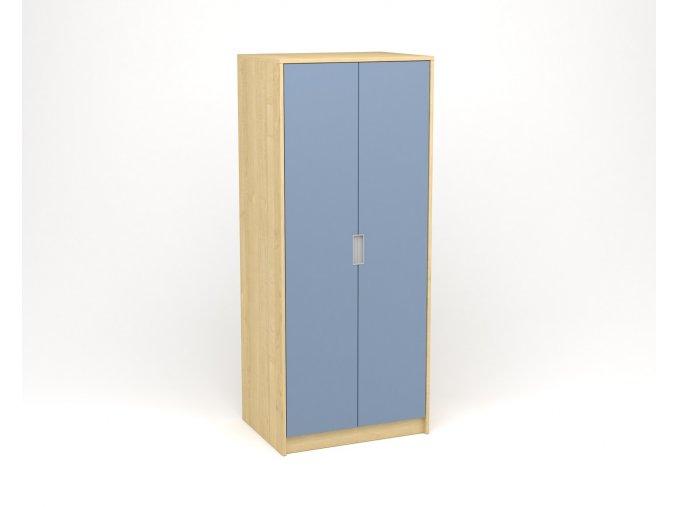 Šatní skříň javor modrá