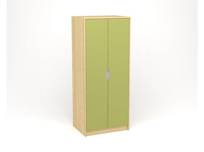 Šatní skříň javor zelená
