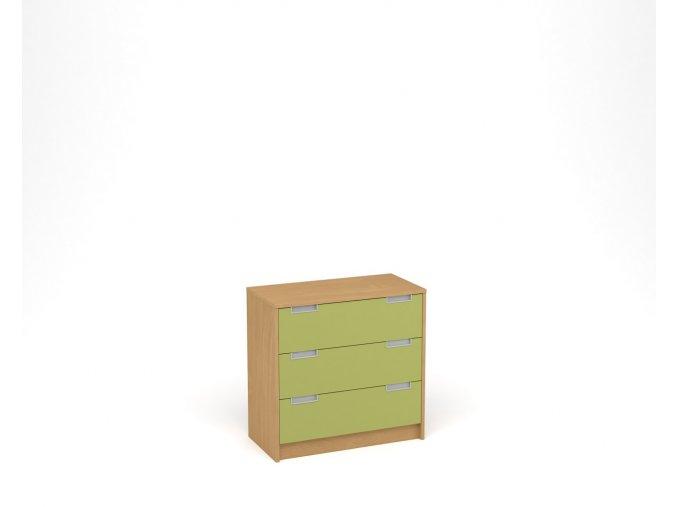 Komoda se třemi zásuvkami buk zelená