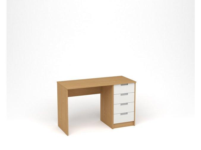 Dětský psací stůl - buk, bílá
