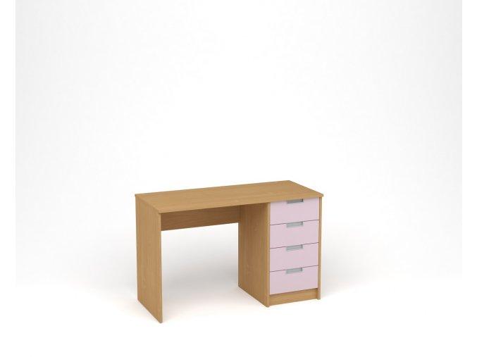Dětský psací stůl - buk, levandulová