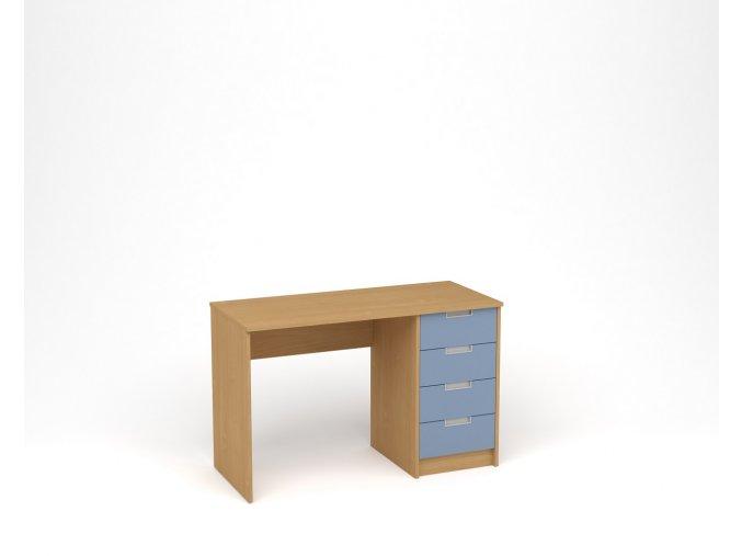 Dětský psací stůl - buk, modrá