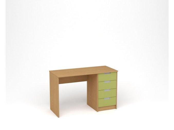 Dětský psací stůl - buk, zelená