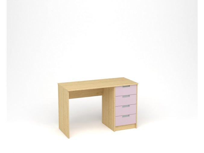 Dětský psací stůl - javor, levandulová