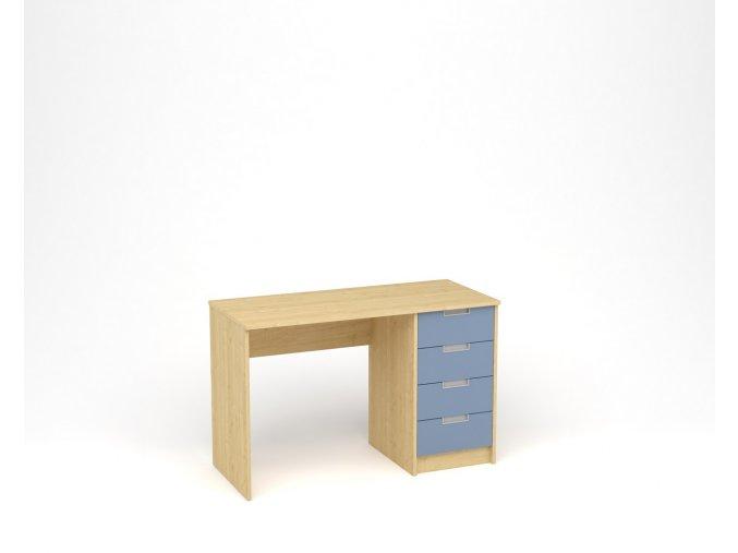 Dětský psací stůl - javor, modrá