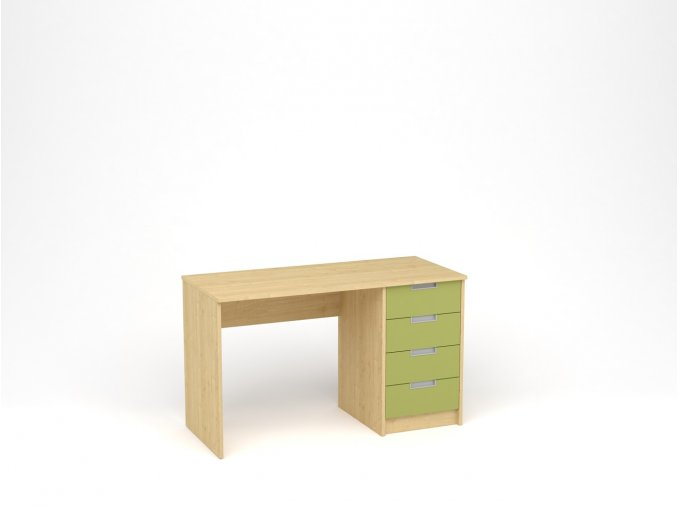 Dětský psací stůl - javor, zelená
