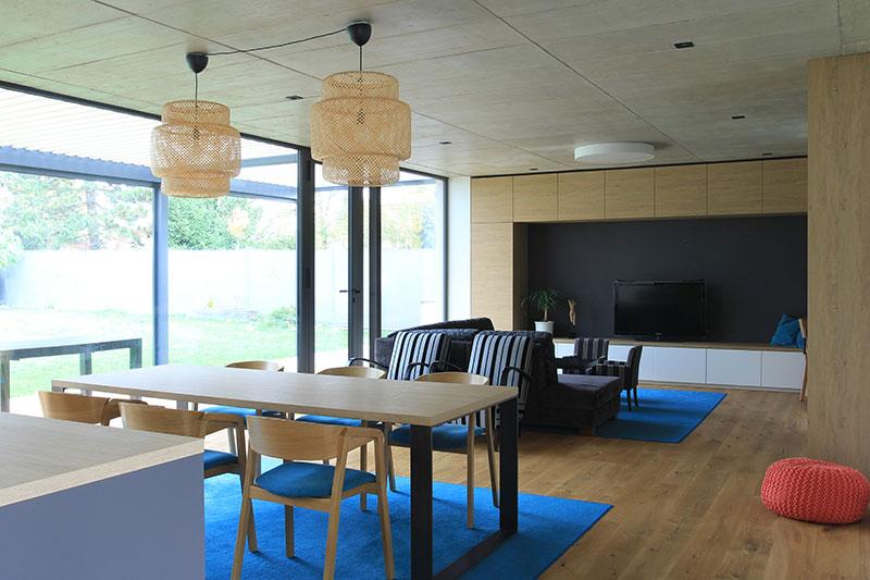 Realizace interiéru v novostavbě ve Zlíně