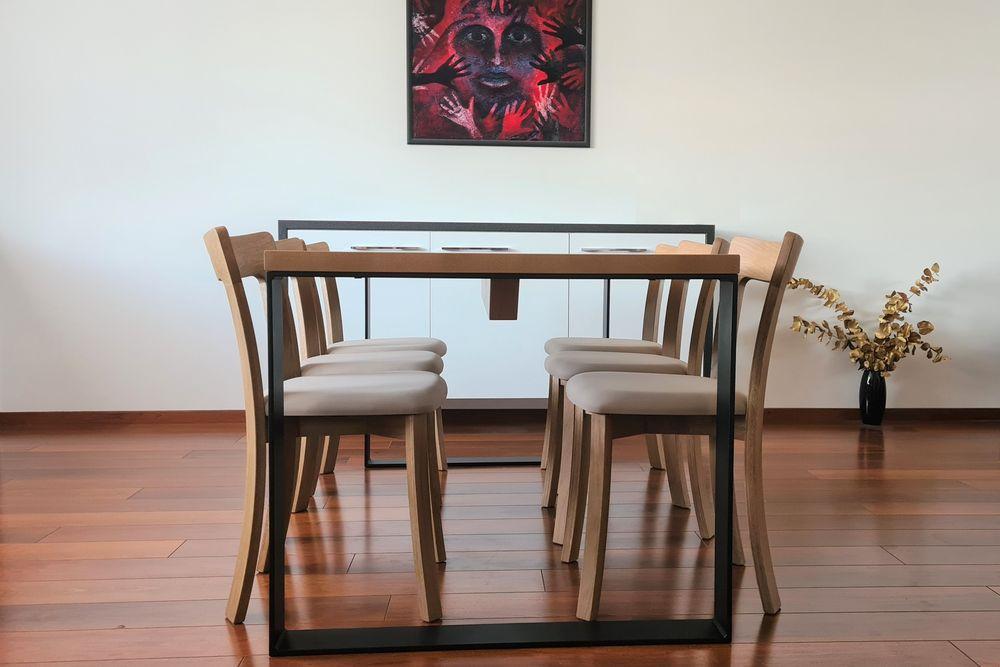 Jídelní stůl QUADRO a židle GOLDA 2