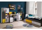 Matel - šedý nábytek se žlutými prvky do dětského pokoje