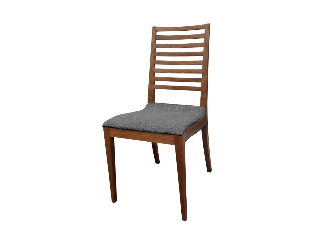Židle OLIVIE ořech, čalouněná