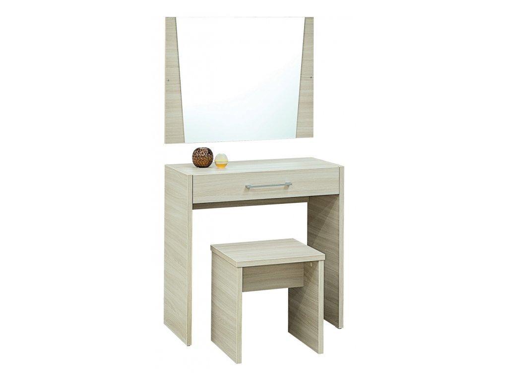 Toaletní stolek MIA se zrcadlem a taburetem