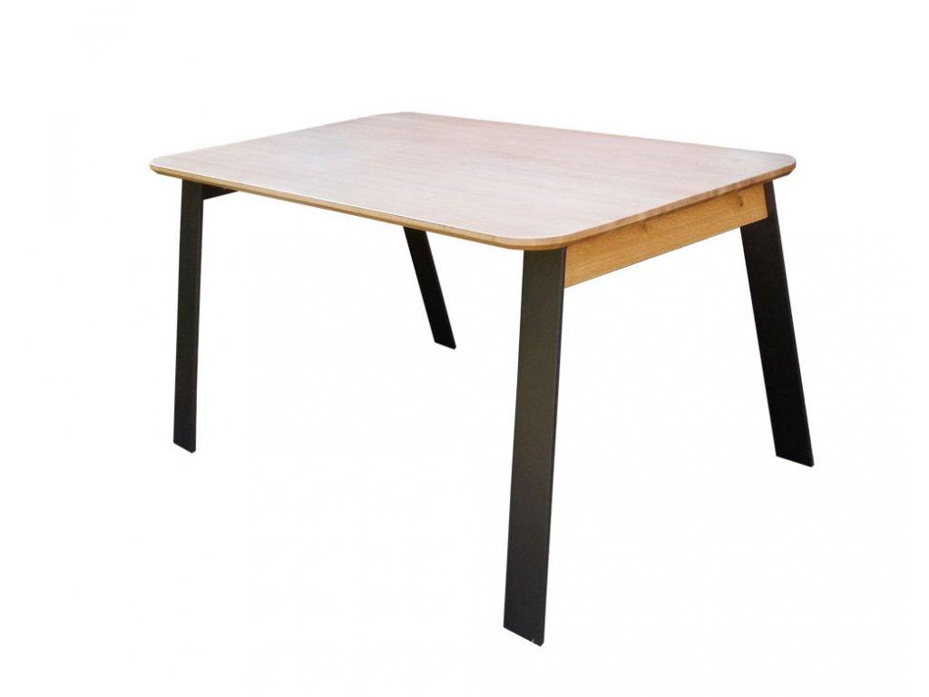 Jídelní stůl MEGAN - masivní dubový plát