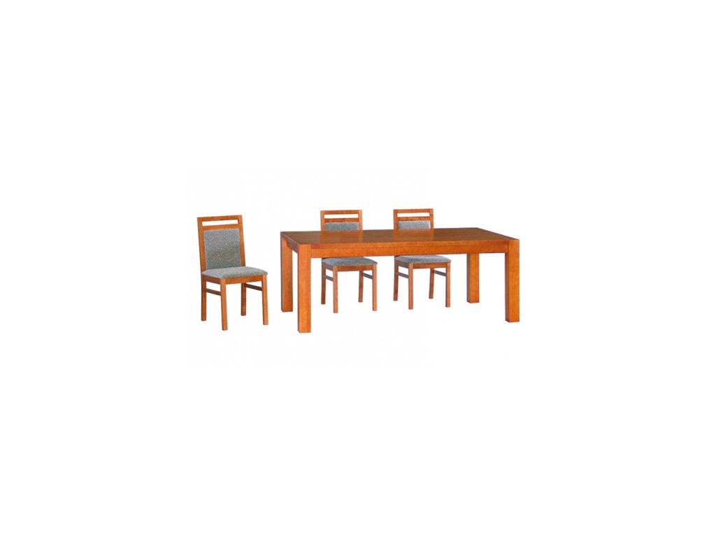 Jídelní stůl CUBIS pevný - masivní DUB
