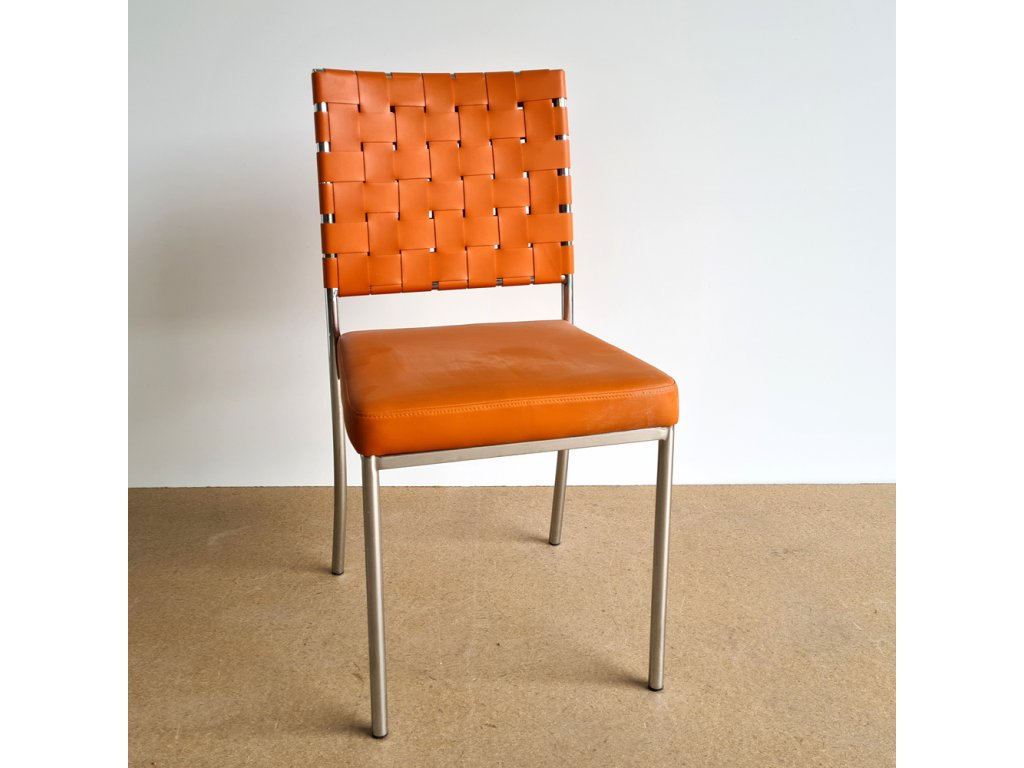 Židle kov - oranžová