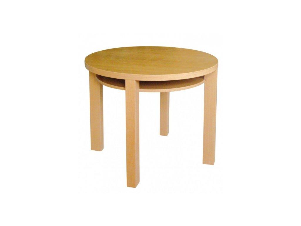 Kruhový jídelní stůl OTA z přírodního buku 100 cm průměr