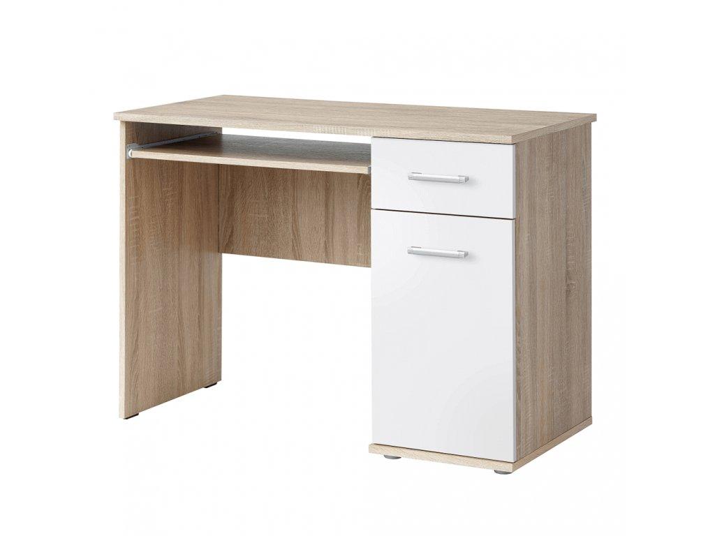 PC stůl, dub sonoma / bílá, EMIO TYP 6