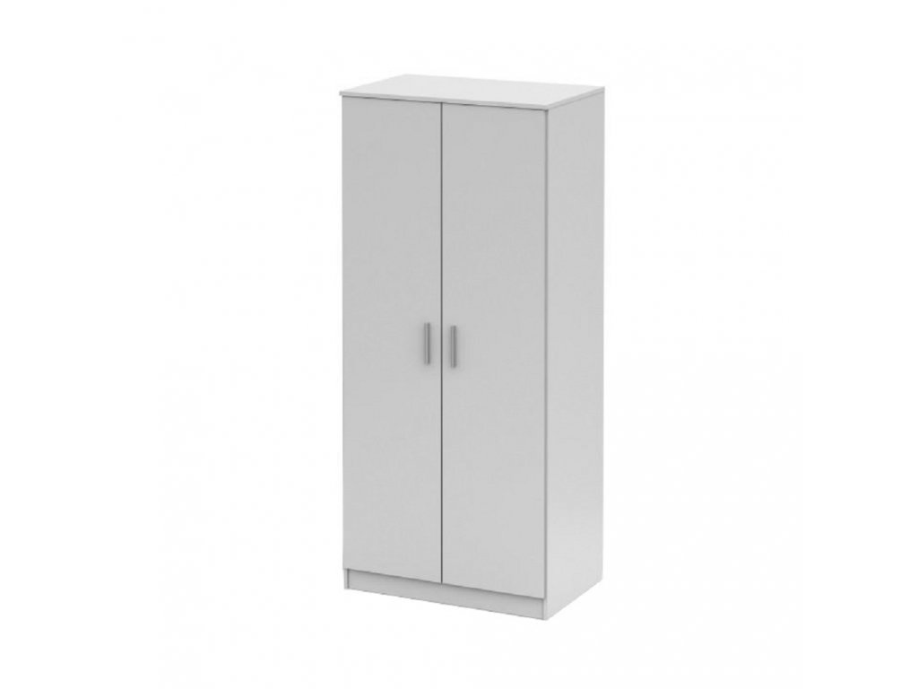 Věšáková skříň, bílá, NOKO-SINGA 80