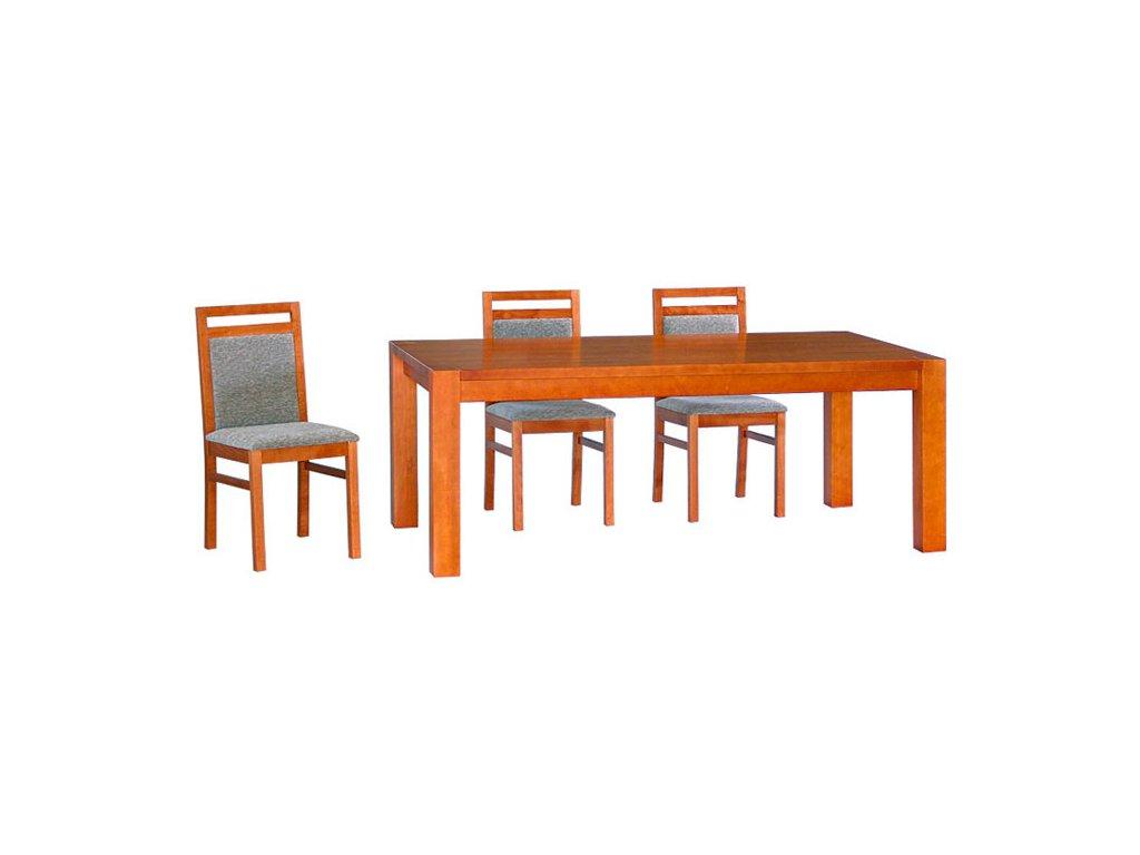 Jídelní stůl CUBIS pevný - masivní BUK