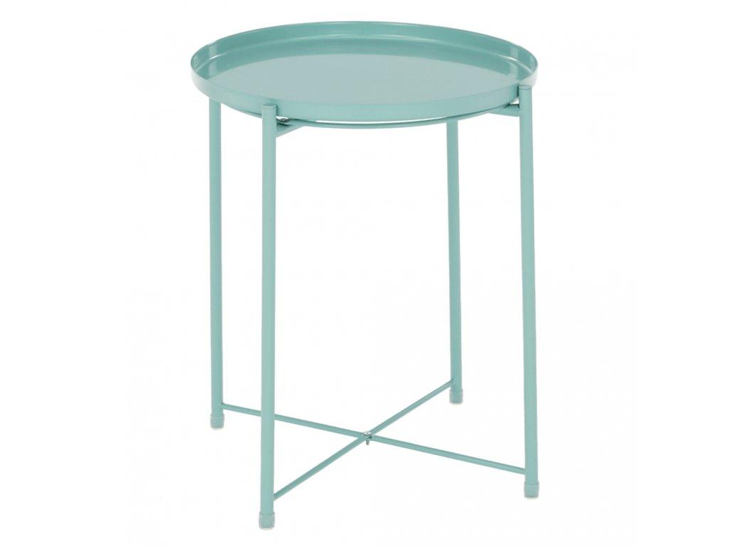 Příruční stolek s odnímatelnou tácem, neo mint, TRIDER