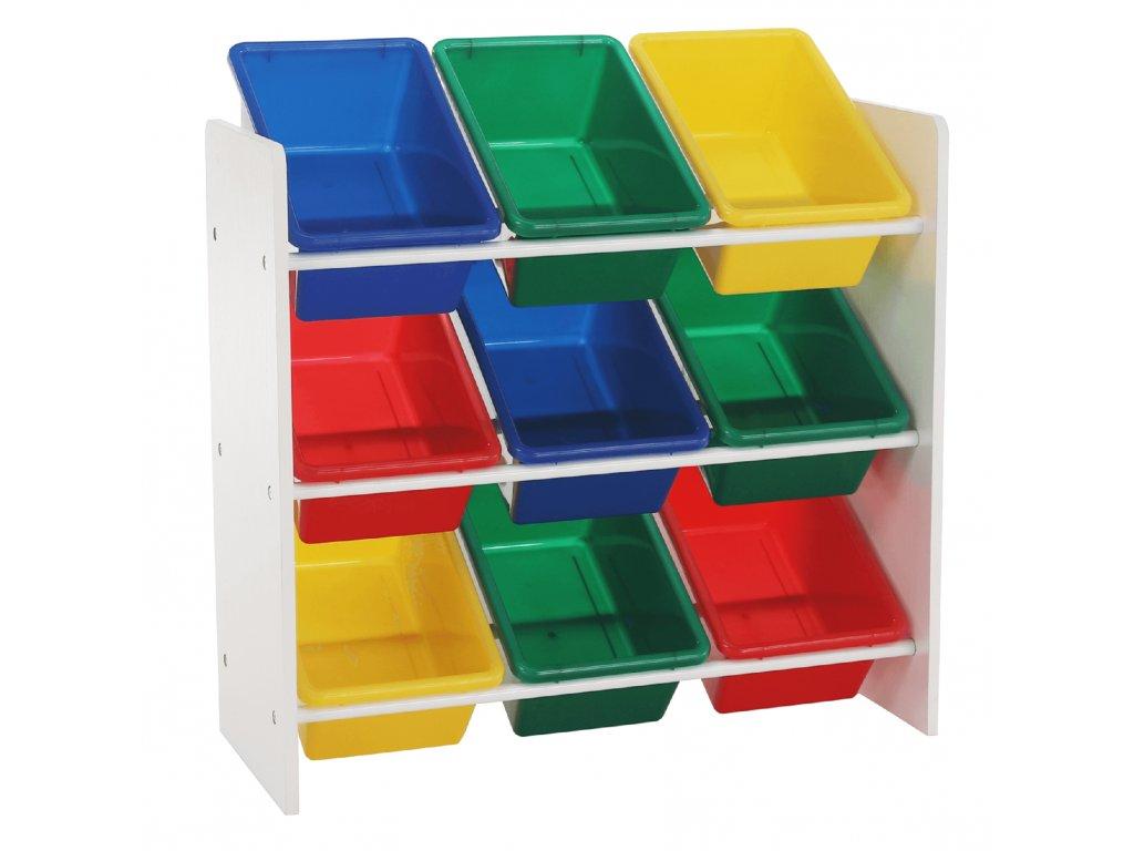 Organizér na hračky, vícebarevná / bílá, KIDO TYP 2