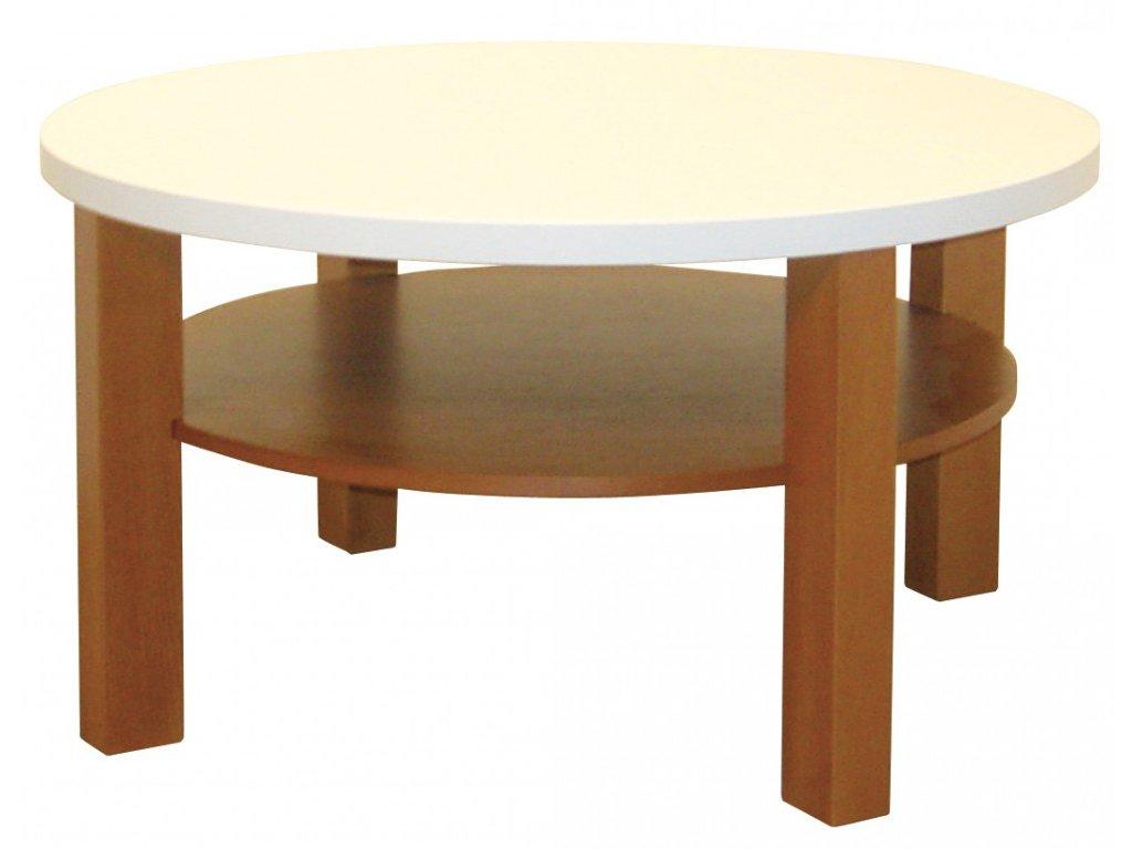Dřevěný kruhový konferenční stolek OTA