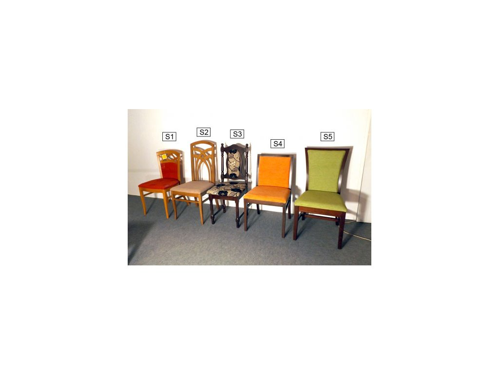Starožitné židle po 1 ks (S2, S3, S4, S5) - VÝPRODEJ