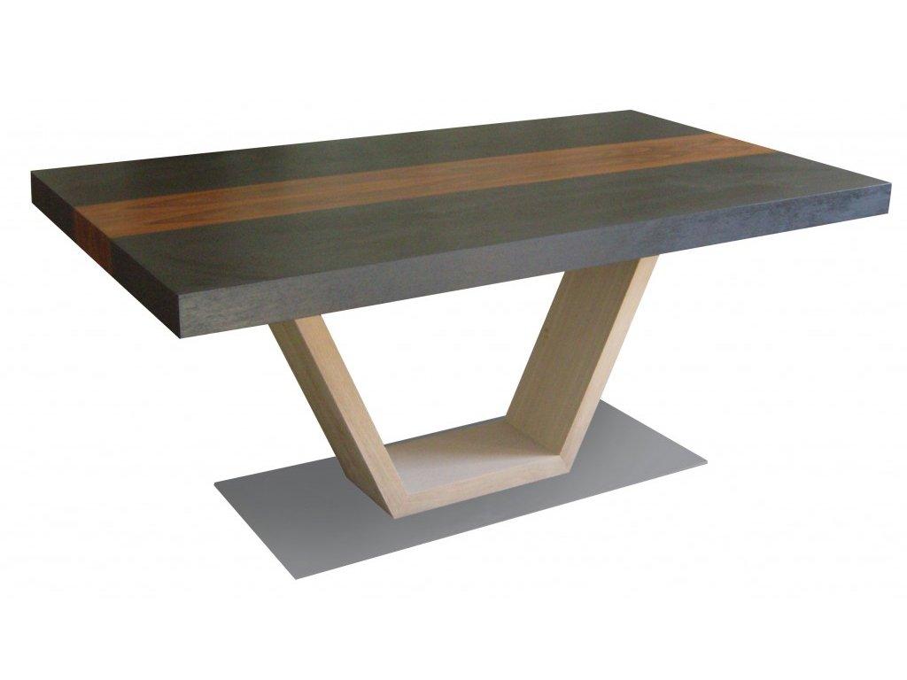 Dýhovaný jídelní stůl VENDA