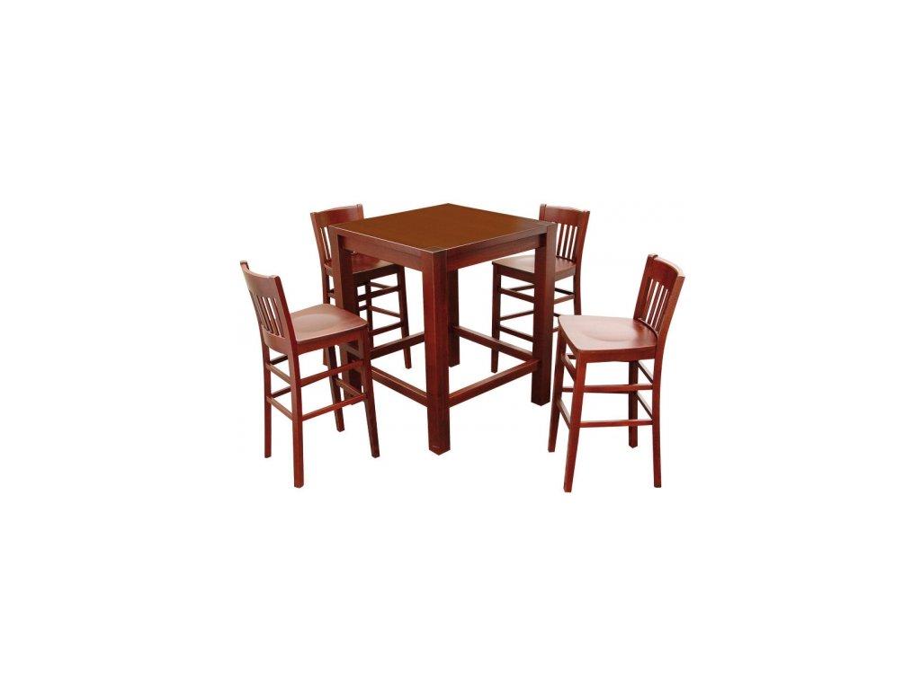 Dřevěný barový stůl CUBIS