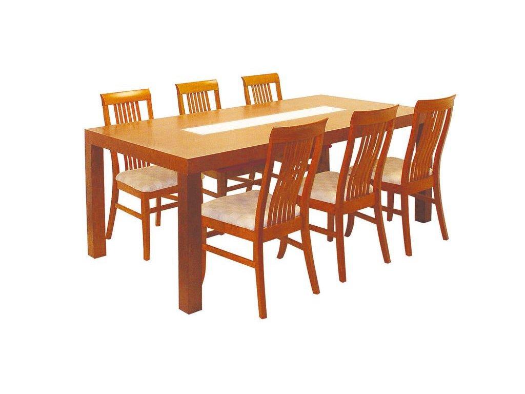 Pevný jídelní stůl NOE - malé sklo