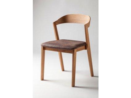 Židle MAROKO čalouněná - dub