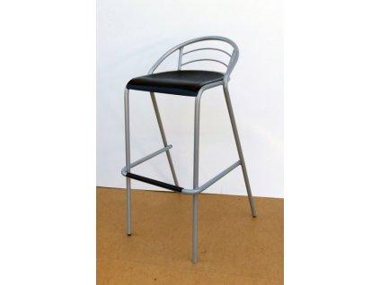 Barová židle LOLA s černým sedákem VÝPRODEJ
